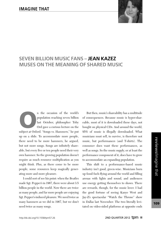 Shared Music - Jean Kazez - The Philosophers' Magazine