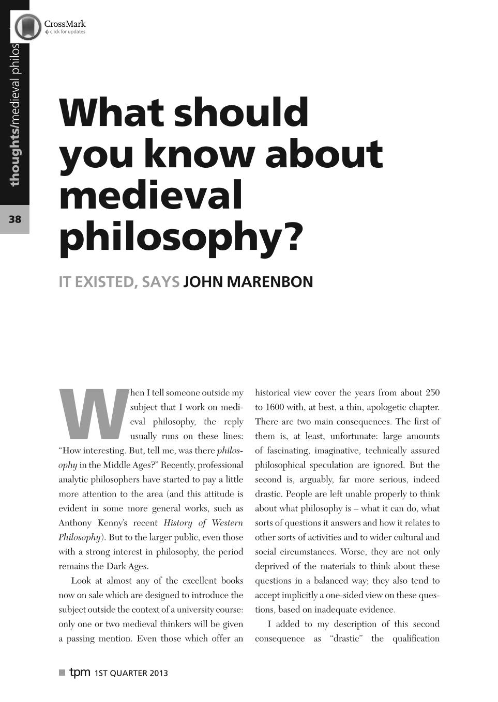 medieval philosophy marenbon john
