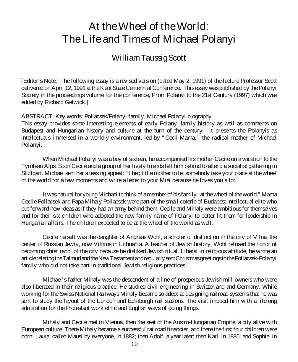 at the wheel of the world the life and times of michael polanyi document is being loaded