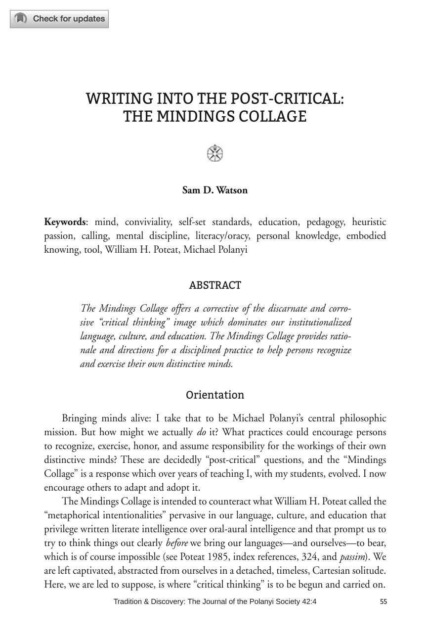 essay on quality of our education