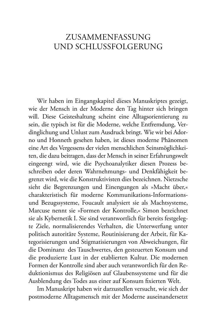 Zusammenfassung Und Schlussfolgerung Literatur Kurze Biographie