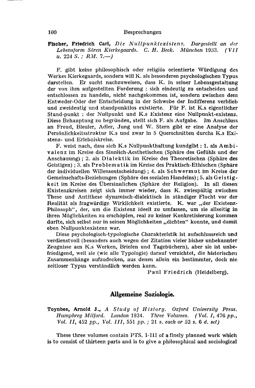 A Study of History - Morris Ginsberg - Zeitschrift für