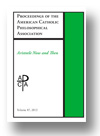 Cover of Proceedings of the American Catholic Philosophical Association
