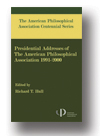 Cover of The American Philosophical Association Centennial Series