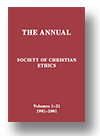 Cover of The Annual of the Society of Christian Ethics
