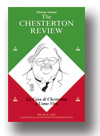 Cover of The Chesterton Review in Italiano