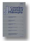 Cover of Canadian Journal of Philosophy