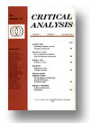 Cover of The Journal of Critical Analysis