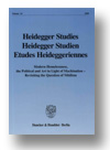 Cover of Heidegger Studies