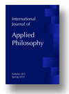 Cover of International Journal of Applied Philosophy