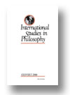 Cover of International Studies in Philosophy