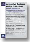 Cover of Journal of Business Ethics Education