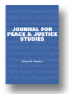 Cover of Journal for Peace and Justice Studies
