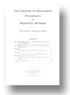 Cover of The Journal of Philosophy, Psychology and Scientific Methods