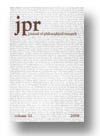 Cover of Journal of Philosophical Research