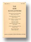 Cover of The New Scholasticism