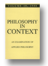 Cover of Philosophy in Context