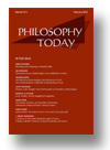 Cover of Philosophy Today