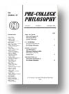 Cover of The Journal of Pre-College Philosophy