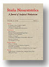Cover of Studia Neoaristotelica