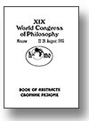 Cover of Documents from the XIX World Congress of Philosophy