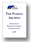 Cover of The Paideia Archive: Twentieth World Congress of Philosophy