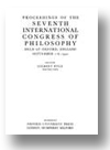 Cover of Proceedings of the Seventh International Congress of Philosophy
