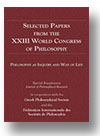 Cover of Selected Papers from the XXIII World Congress of Philosophy
